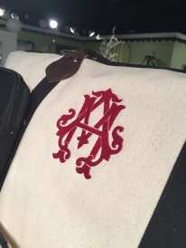 Shuler Studio Monogram Chic Font dresses up our Canvas Jet Setter Duffle!