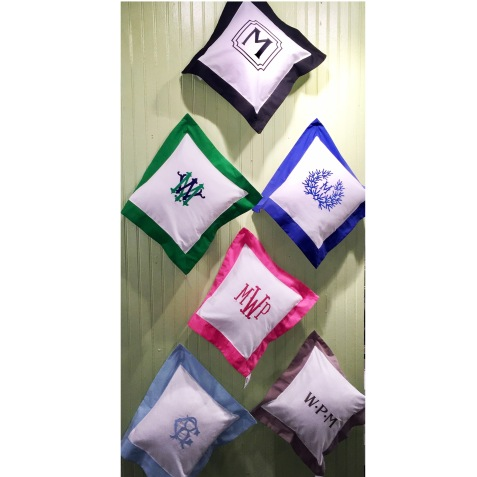 PIllow Wall - Showcasing some of our favorite monograms!