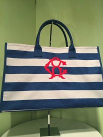 So nautical on our Southern Home Navy Box Tote!