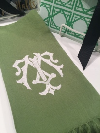 Perfection! A Shuler Studio Monogram Chic design on one of our Fringe Guest Towels.
