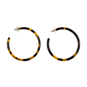 Large Tortoise Hoop Earrings