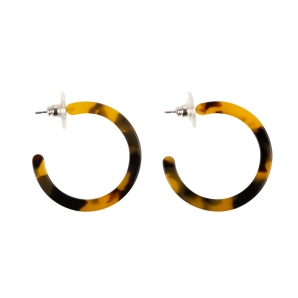 Small Tortoise Hoop Earrings