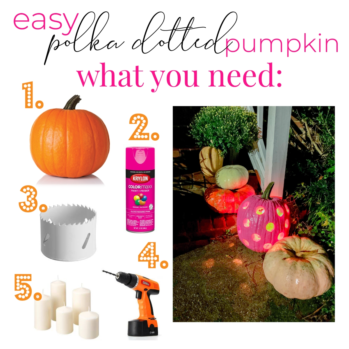Make a Polka Dotted Pumpkin