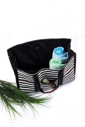 Stripe Towel Tote